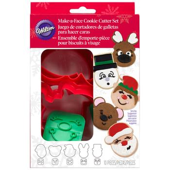 Wilton Cookie Cutter - Stamp Set Make a Face