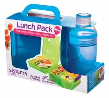 Sistema lunch box blå