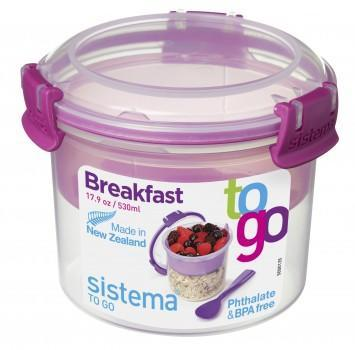 Breakfast to go Sistema Klarplast med farvet clips
