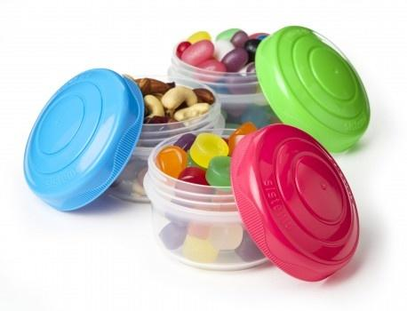 Sistema Mini bites snackbøtter to go 3 pack