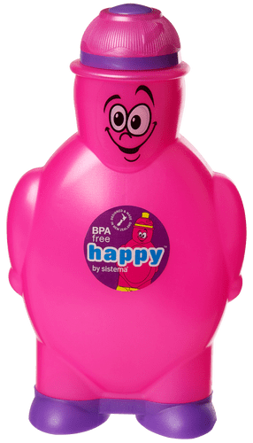 Sistema Happy Bottle drikkeflaske 350 ml pink