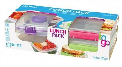 Sistema Lunch Pack med 1 Salad To Go og 2 Sandwich To Go