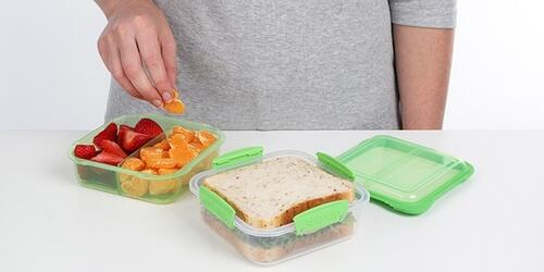 Sistema Lunch Stack Square 1,24 l klar