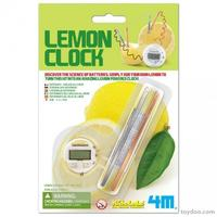 Kidz Lab Lemon Clock Citron Ur