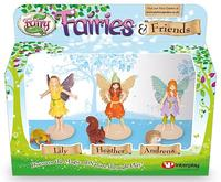 My Fairy Garden Feer Fairies & Friends Sæt  3 feer og 3 dyr